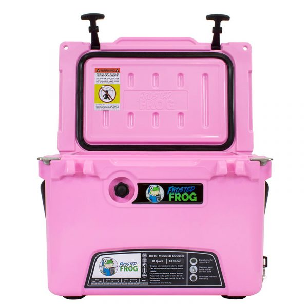 Frosted Frog 20 QT Pink Premium Cooler | Premium Supplier of Tumblers, Coolers and Apparel | Tumblers and Coolers