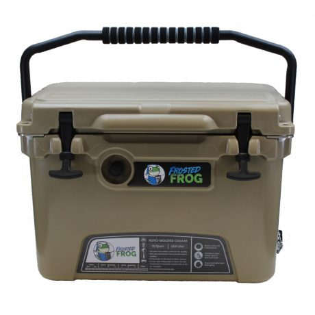 Frosted Frog 20 QT Sand Premium Cooler | Premium Supplier of Tumblers, Coolers and Apparel | Tumblers and Coolers