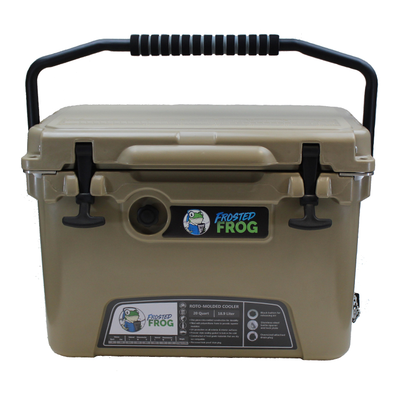 Frosted Frog 20 QT Sand Premium Cooler   Premium Supplier of Tumblers, Coolers and Apparel   Tumblers and Coolers