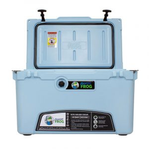 Frosted Frog 45 QT Ocean Blue Premium Cooler | Premium Supplier of Tumblers, Coolers and Apparel | Tumblers and Coolers