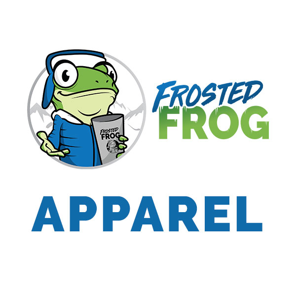 Frosted Frog Apparel Logo White | Cooler and Tumbler Retailer | Frosted Frog