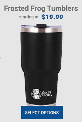 Frosted Frog Black Tumbler | Premium Supplier of Tumblers, Coolers and Apparel | Tumblers and Coolers
