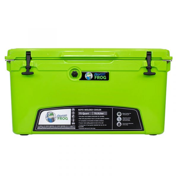 Frosted Frog 75 QT Green Premium Cooler | Premium Supplier of Tumblers, Coolers and Apparel | Tumblers and Coolers
