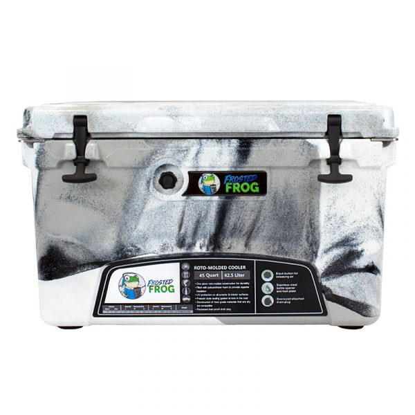 Frosted Frog 45 QT Black Camo Premium Cooler | Premium Supplier of Tumblers, Coolers and Apparel | Tumblers and Coolers