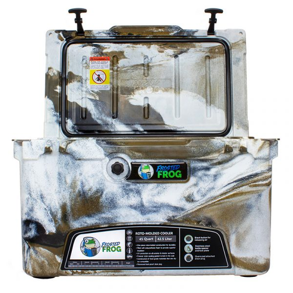 Frosted Frog 45 QT Desert Camo Premium Cooler | Premium Supplier of Tumblers, Coolers and Apparel | Tumblers and Coolers