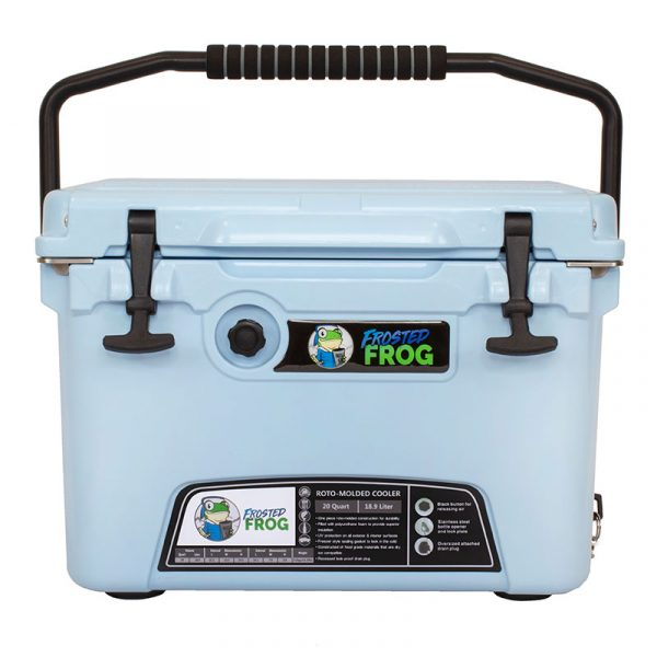 Frosted Frog 20 QT Ocean Blue Premium Cooler | Premium Supplier of Tumblers, Coolers and Apparel | Tumblers and Coolers