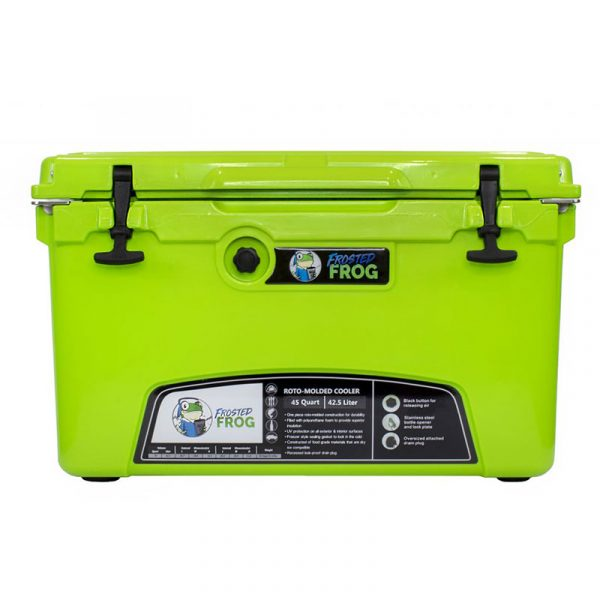 Frosted Frog 45 QT Green Premium Cooler   Premium Supplier of Tumblers, Coolers and Apparel   Tumblers and Coolers