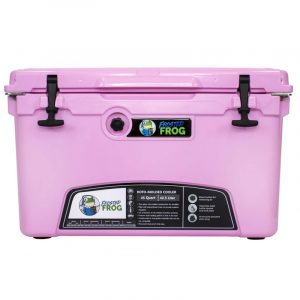 Frosted Frog 45 QT Pink Premium Cooler   Premium Supplier of Tumblers, Coolers and Apparel   Tumblers and Coolers