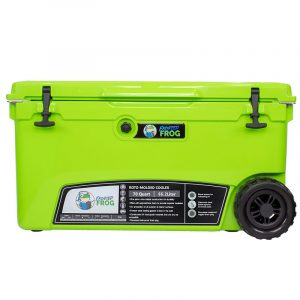 Frosted Frog 70 QT Green Premium Cooler | Premium Supplier of Tumblers, Coolers and Apparel | Tumblers and Coolers