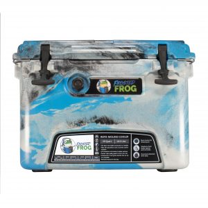 Frosted Frog 20 QT Camo Blue, Gray & Black   Premium Cooler   Premium Supplier of Tumblers, Coolers and Apparel   Tumblers and Coolers