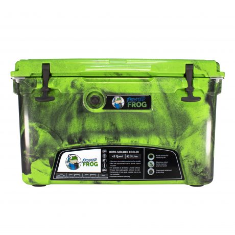 Frosted Frog 45 QT Camo Original Green & Black | Premium Cooler | Premium Supplier of Tumblers, Coolers and Apparel | Tumblers and Coolers