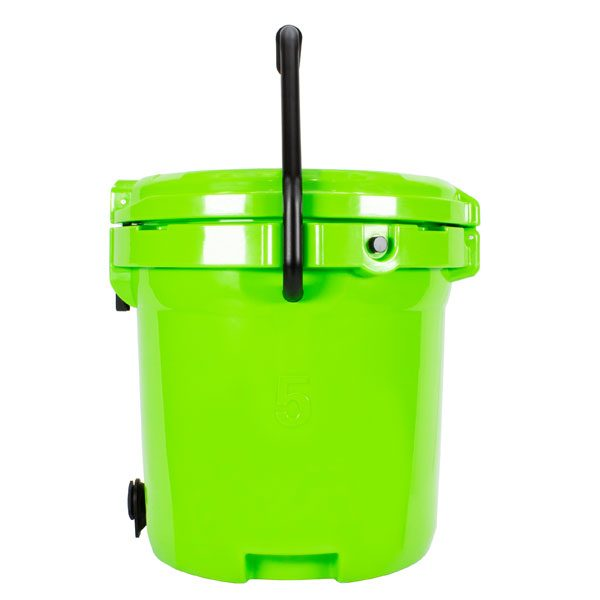 5 Gallon Bucket Cooler - Green with Handle and Spigot | Frosted Frog