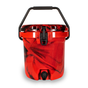 Frosted Frog Red Camo Beverage Cooler | Premium Supplier of Tumblers, Coolers and Apparel | Tumblers and Coolers