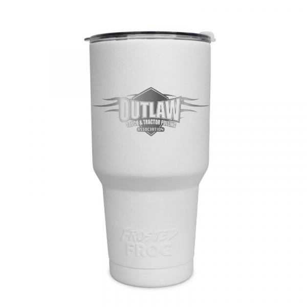 Frosted Frog White Outlaw Tumbler | Premium Supplier of Tumblers, Coolers and Apparel | Tumblers and Coolers