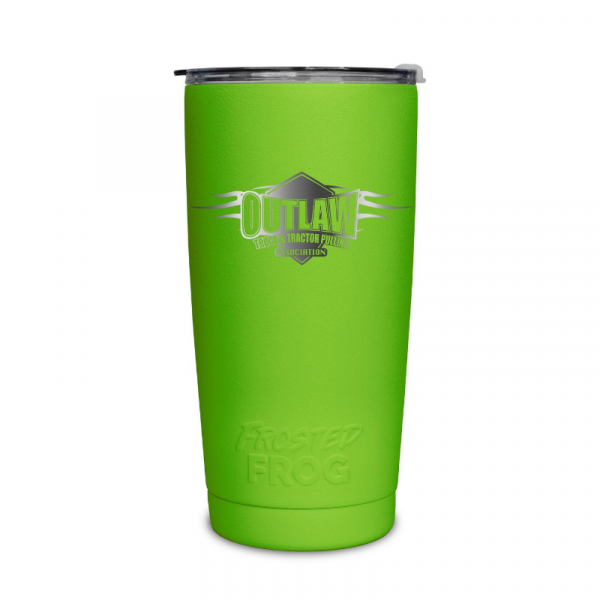 Frosted Frog Green Outlaw Tumbler | Premium Supplier of Tumblers, Coolers and Apparel | Tumblers and Coolers