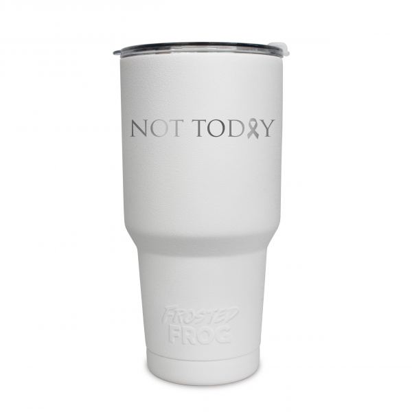 Frosted Frog White Not Today (Cancer) Tumbler | Premium Supplier of Tumblers, Coolers and Apparel | Tumblers and Coolers