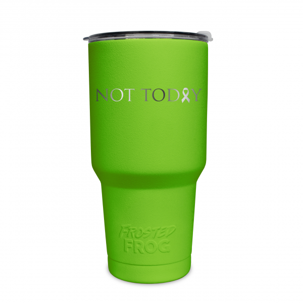 Frosted Frog Green Not Today (Cancer) Tumbler | Premium Supplier of Tumblers, Coolers and Apparel | Tumblers and Coolers