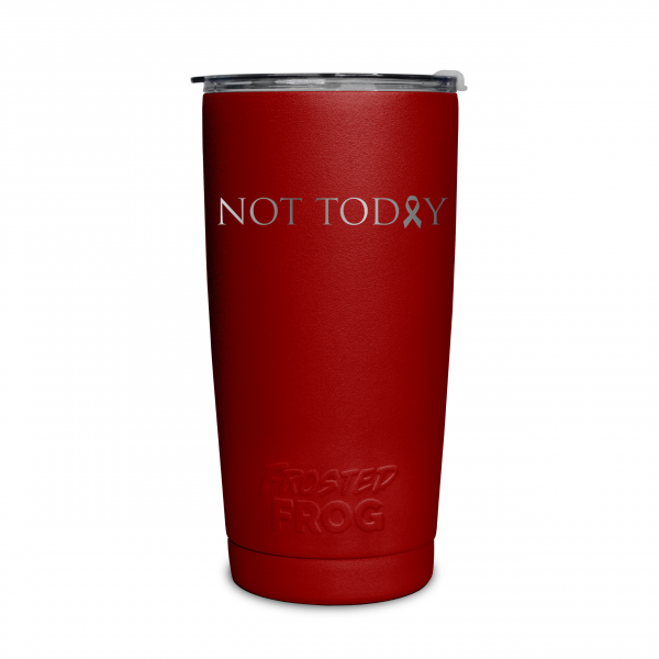 Frosted Frog Red Not Today (Cancer) Tumbler | Premium Supplier of Tumblers, Coolers and Apparel | Tumblers and Coolers