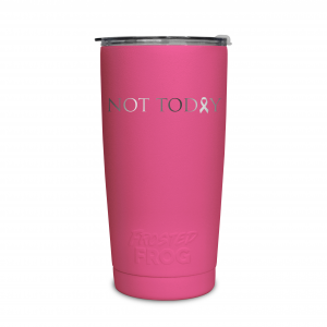 Frosted Frog Pink Not Today (Cancer) Tumbler | Premium Supplier of Tumblers, Coolers and Apparel | Tumblers and Coolers