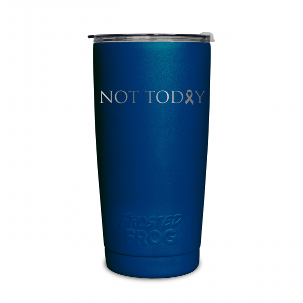 Frosted Frog Dark Blue Not Today (Cancer) Tumbler | Premium Supplier of Tumblers, Coolers and Apparel | Tumblers and Coolers