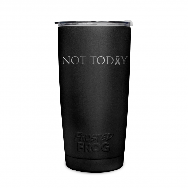 Frosted Frog Black Not Today (Cancer) Tumbler | Premium Supplier of Tumblers, Coolers and Apparel | Tumblers and Coolers