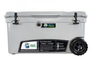 Frosted Frog 70 QT Grey Premium Cooler with Wheels | Premium Supplier of Tumblers, Coolers and Apparel | Tumblers and Coolers